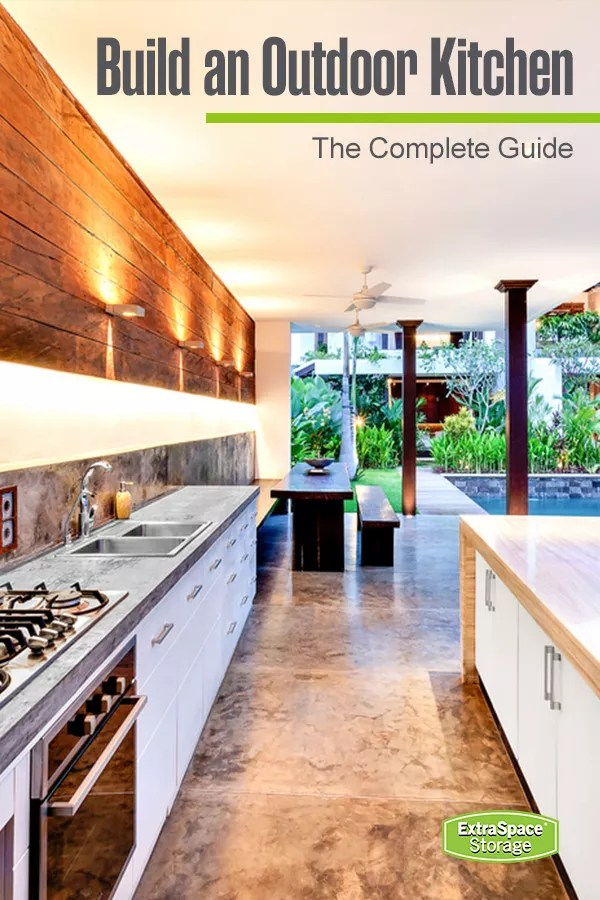 37 Ideas for Creating the Ultimate Outdoor Kitchen | Extra ... on Building Outdoor Living Space id=44468