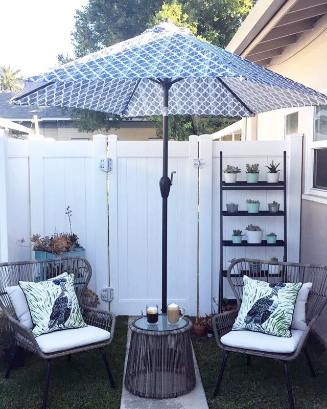 How to Create an Outdoor Living Space in a Small Backyard ... on Attached Outdoor Living Spaces id=32307