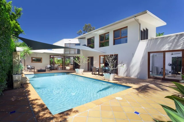 Modern home with outdoor swimming pool