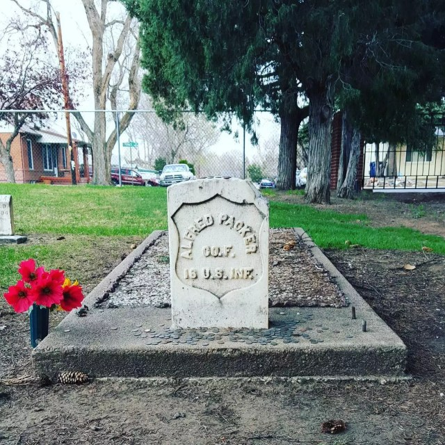 Grave and tombstone of Alfred Packer, a convicted cannibal Photo by Instagram user @unbesopicante