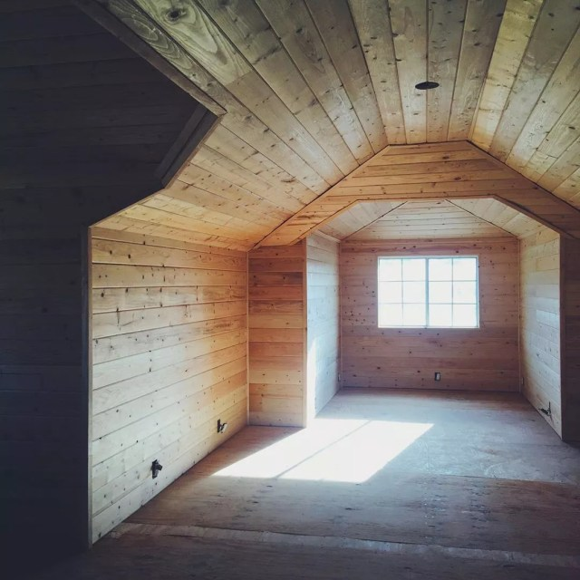 Clean wooden attic space. Photo by Instagram user @jason_steady