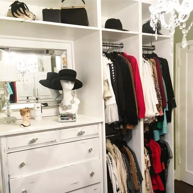 Closet with White Dresser. Photo by Instagram user @dawnastyles