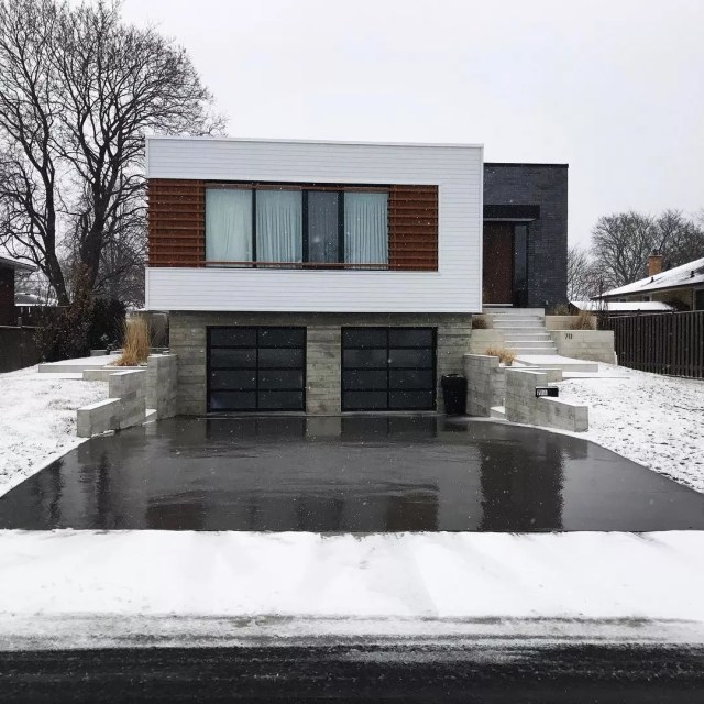 Heated Driveway and Walkways During Winter. Photo by Instagram user @calibreconcrete