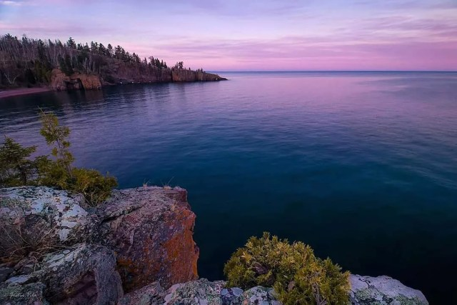 Sunset view of Lake Superior. Photo by Instagram user @justin9066