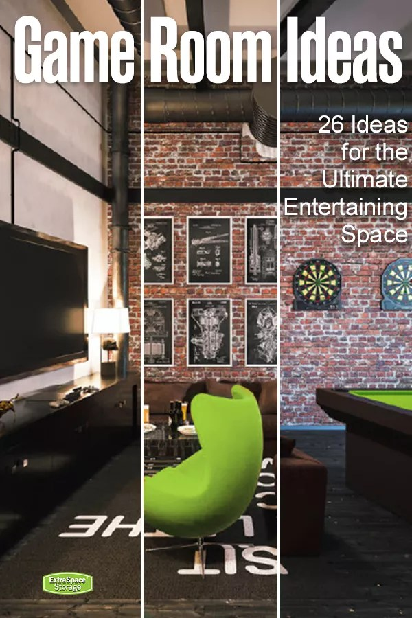 Video gaming room furniture Small Video Games Through Xbox Playstation Or Pc Try These Tips To Turn An Extra Room Into Recreation Destination Want More Spare Room Transformation Pinterest Create An Awesome Home Game Room With These 26 Ideas Extra Space