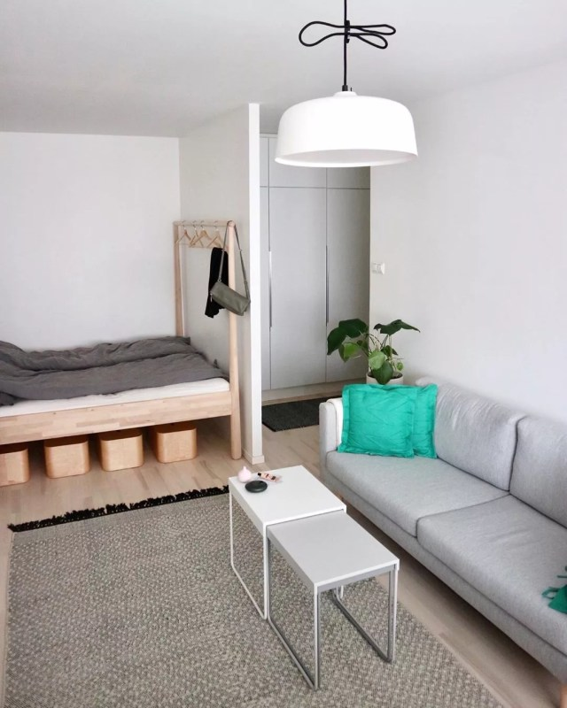 Small Studio Apartment. Photo by Instagram user @kaksinyksiossa