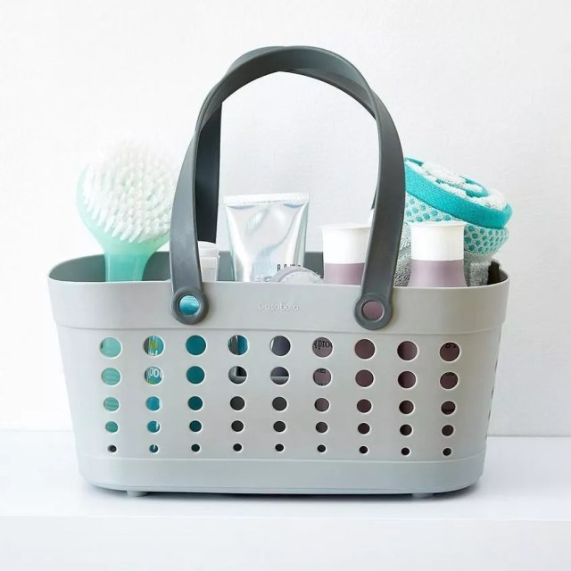 Casabella shower caddy. Photo by Instagram user @coactionpr