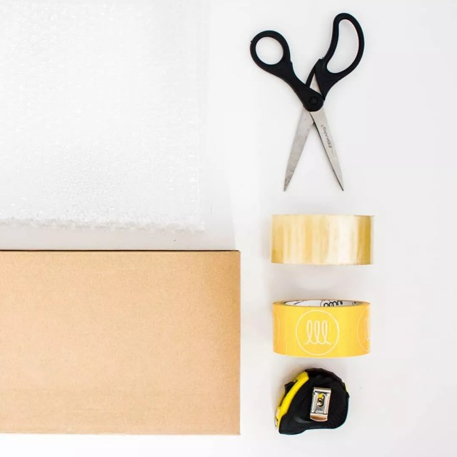 Scissors, Tape, and Measuring Tape. Photo by Instagram user @lightinglightinglighting