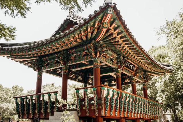 Replica of Korean pavilion in Denman Estate Park, San Antonio, TX. Photo by Instagram user @instasatx