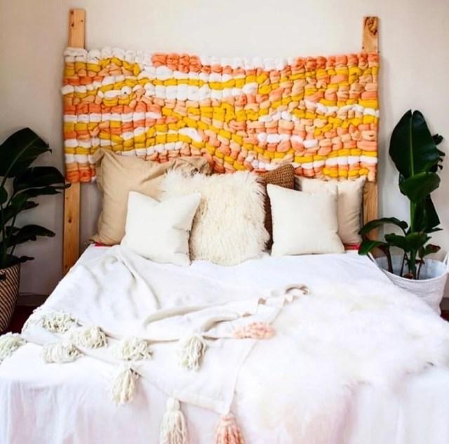 Crochet Headboard for Teen's Bed. Photo by Instagram user @elledanielinc