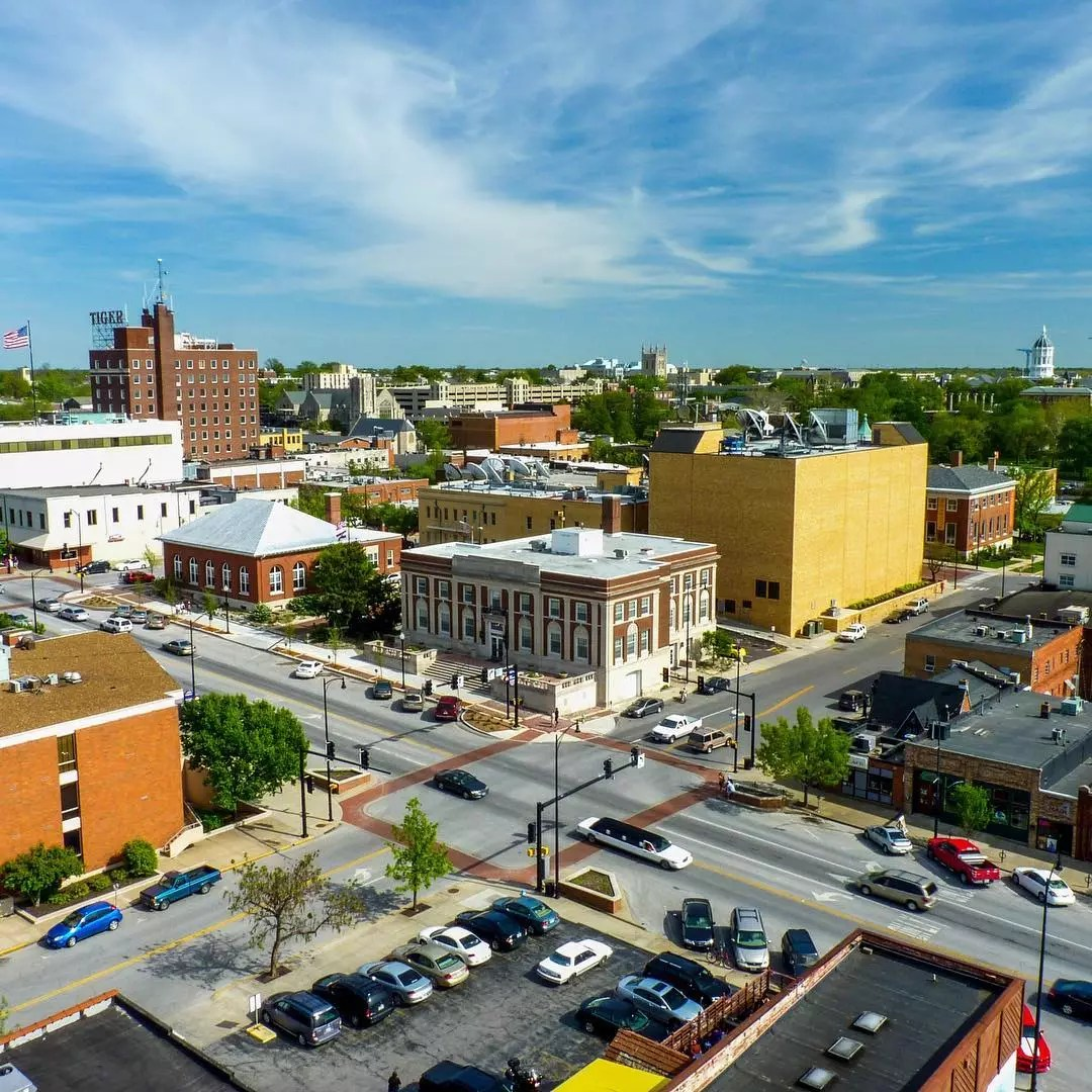 Columbia missouri downtown photo by Instagram user @como.gives