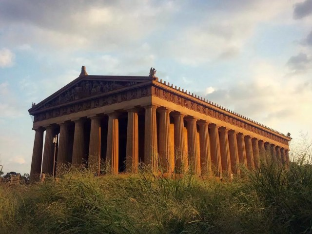 View of the Parthenon replica in Nashville's Centennial Park. Photo by Instagram user @mrvccc