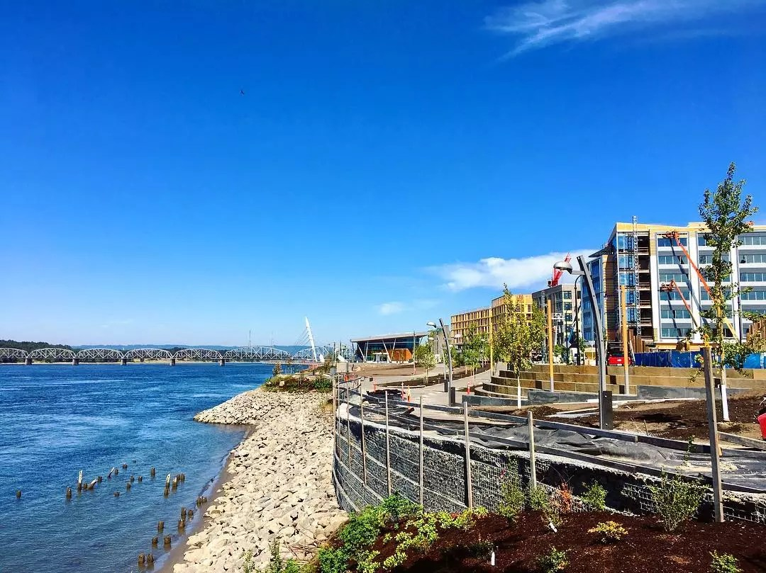 View of the Water at Vancouver Waterfront Park. Photo by Instagram user @vancouver_usa
