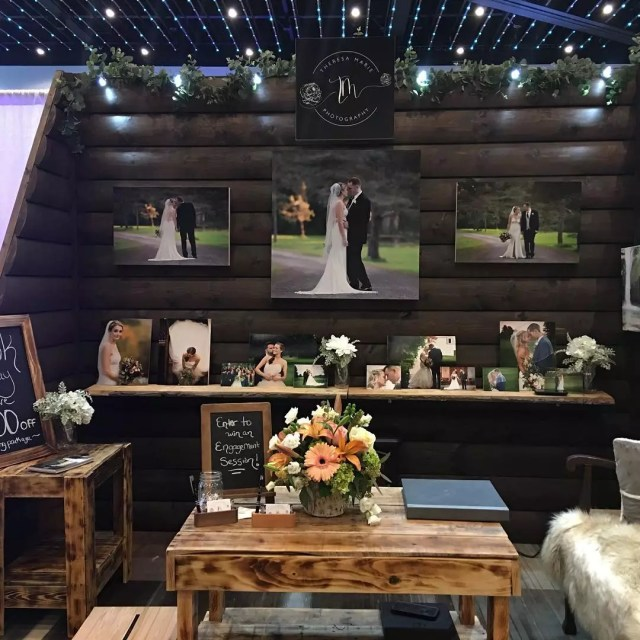 Bridal Fair with Many Different Photos. Photo by Instagram user @acsbridalexpo