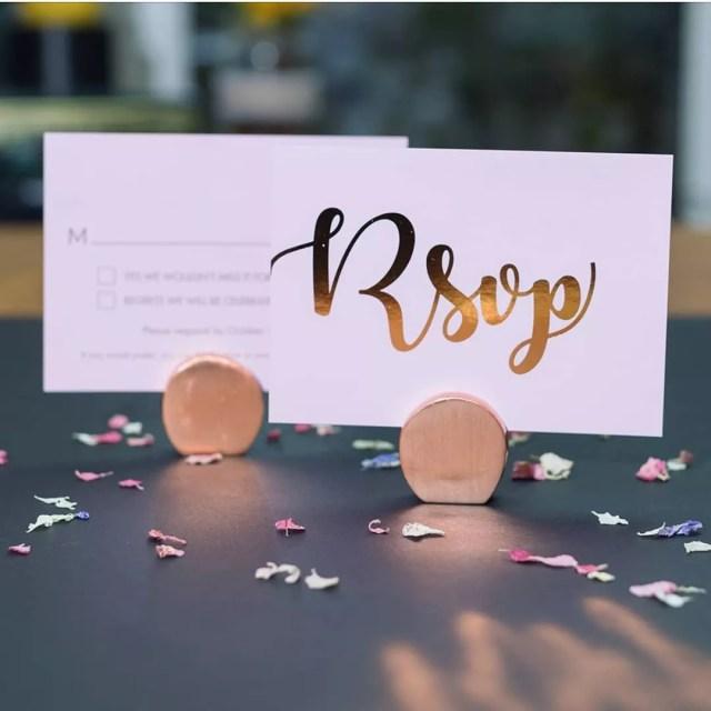 Beautiful Wedding RSVP Cards. Photo by Instagram user @wetalkweddings