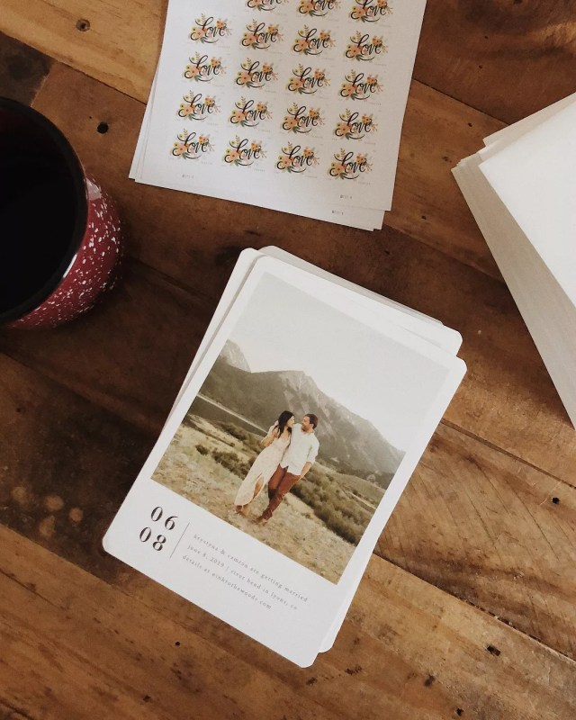 Personalized Save-the-Dates. Photo by Instagram user @ninh_stagram