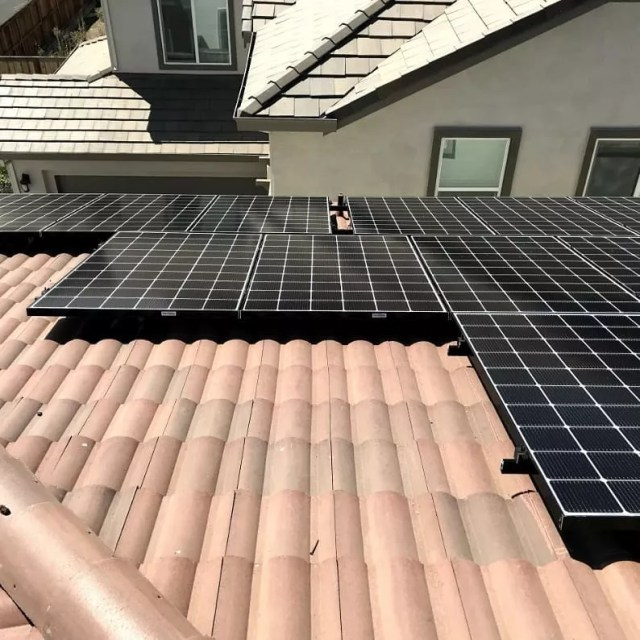 Solar panels on home roof. Photo by Instagram user @solarwiseguys