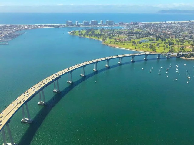 A view of the Coronado bridge from above. Photo by Instagram user @matthew_j_davis