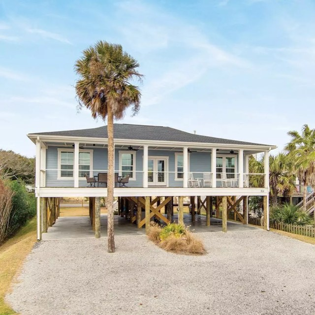 Beach house in Folly Beach, SC. Photo by Instagram user @avocetproperties