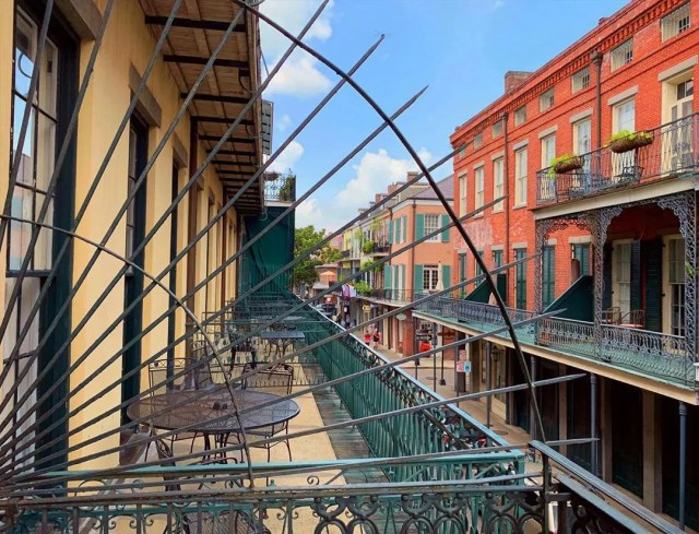 Balconies along the French Quarter in New Orleans. Photo by Instagram user @davidnola