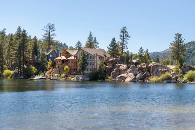 Luxury house on a lake in California