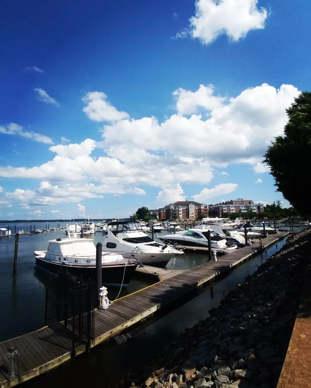 Boat marina on a sunny day in Woodbridge, VA. Photo by Instagram user @ejobiena