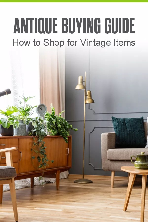 Pinterest Graphic: Antique Buying Guide: How to Shop for Vintage Items