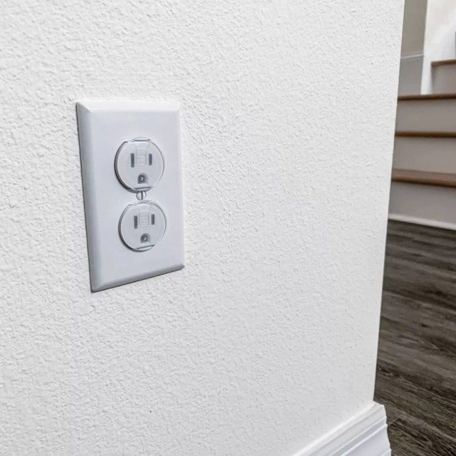 Electrical outlet covers. Photo by Instagram user @joolbaby