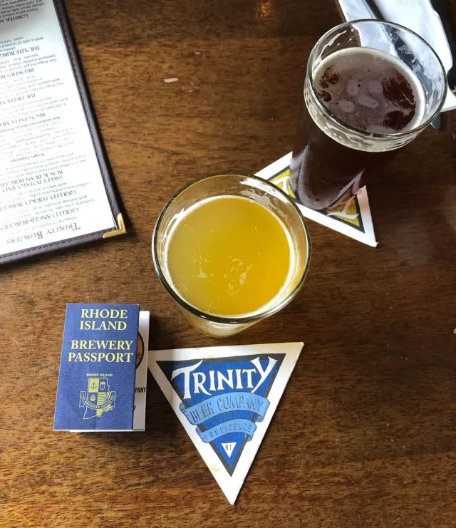 beer from Trinity Brewhouse in Providence RI photo by Instagram user @pippy_pepin