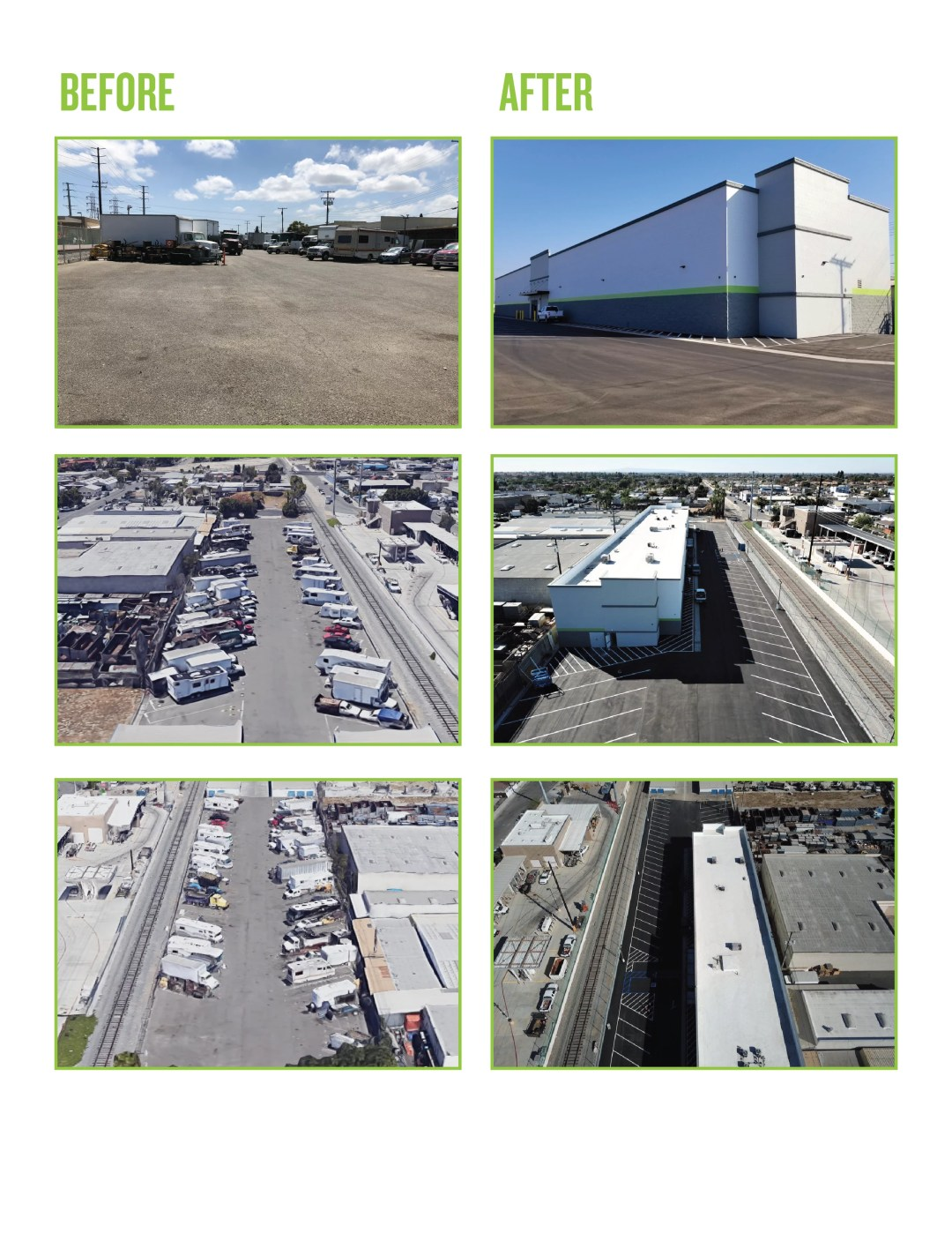 Before and After Photo of Self Storage Expansion Project