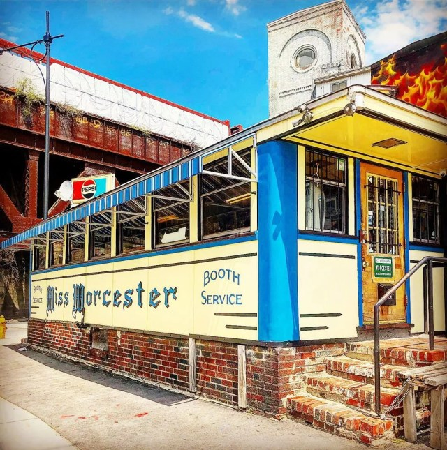 exterior photo of miss worcester diner in Worcester, MA photo by Instagram user @_j_r0ck_