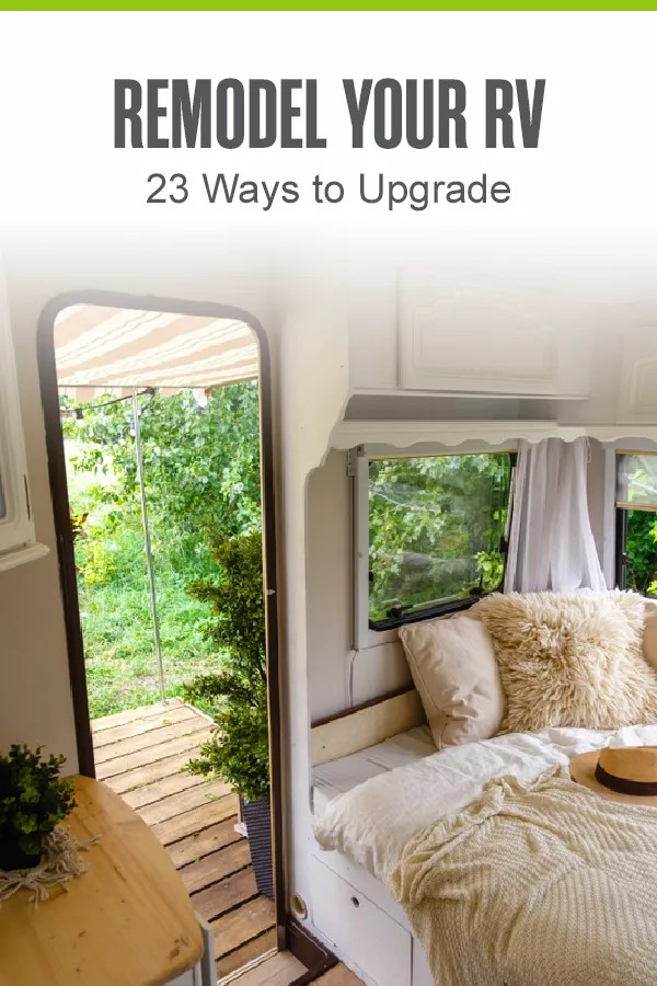 Pinterest Graphic: Remodel Your RV: 23 Ways to Upgrade