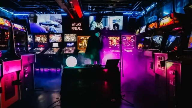 pinball and arcade games in the basement of The Arcade Underground in Boise photo by Instagram user @spacebararcade