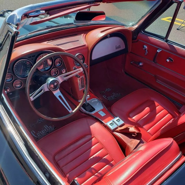 Classic Red Interior in Corvette. Photo by Instagram User @tom1980ny