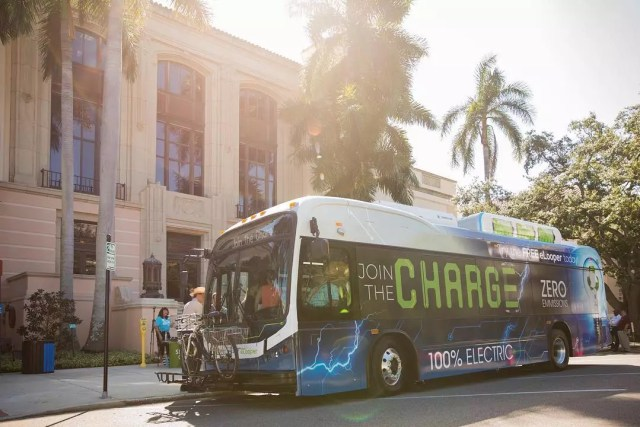 St. Petersburg's First All-Electric Bus, the E-Looper. Photo by Instagram user @stpetefl