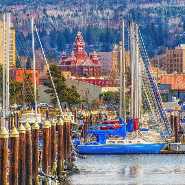 Boats in the Squalicum Harbor in Bellingham, WA. Photo by Instagram user @cbbainbellingham