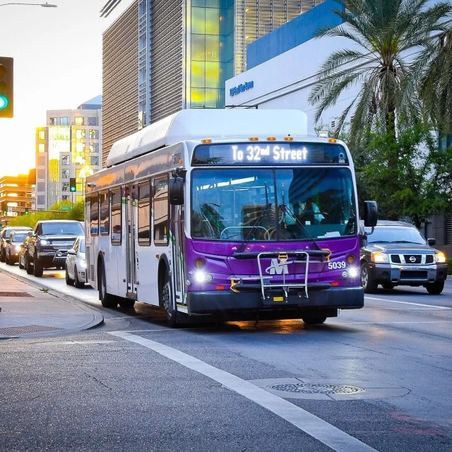Valley Metro Bus in Tempe. Photo by Instagram user @valleymetro