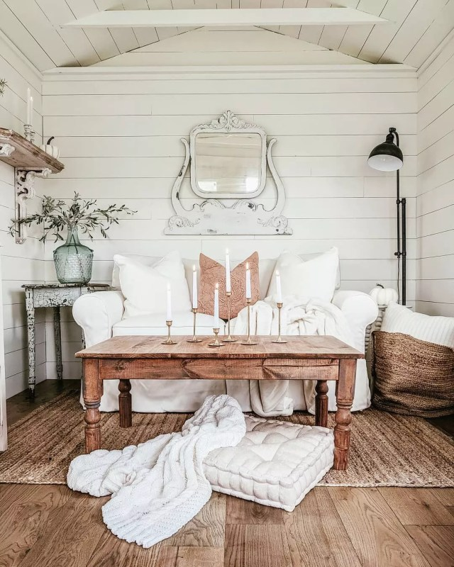 Rustic Looking She Shed with Shiplap On All Walls. Photo by Instagram user @our_forever_farmhouse