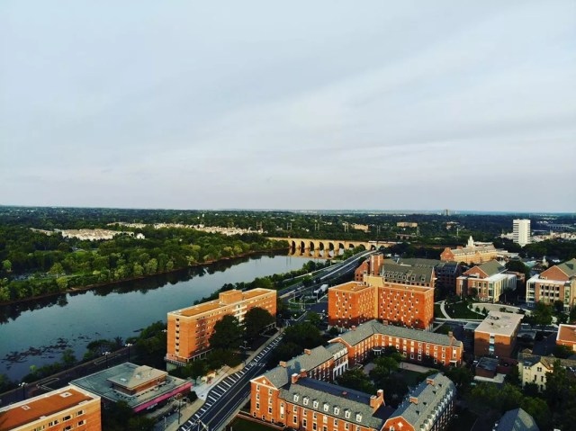 Aerial View of Rutgers University Campus in New Brunswick, NJ. Photo by Instagram user @andhdze