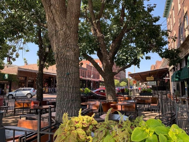 Photo of Outdoor Patio in the Old Market in Downtown Omaha. Photo by Instagram user @visitomaha