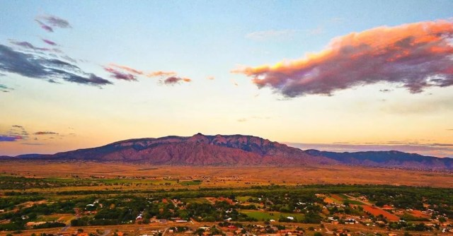 Photo of the Hills in Rio Rancho, NM at Sunset. Photo by Instagram user @rio_rancho_nm