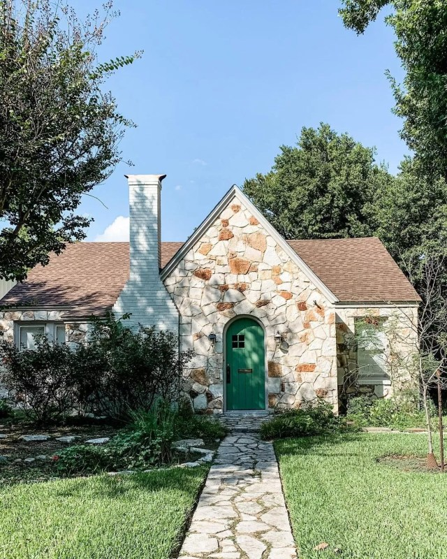 Stone Cottage Style Home in Old West Austin, Austin. Photo by Instagram user @amywhited