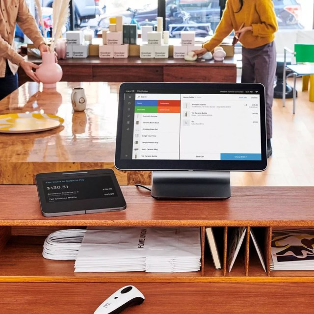 Point of Sale System Running Square. Photo by Instagram user @square