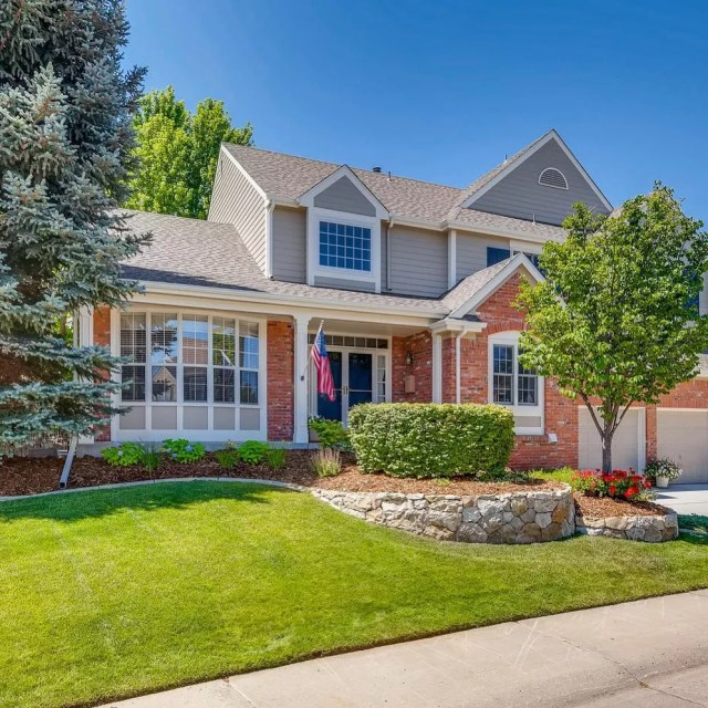 Older Two Story Home in Highlands Ranch, Colorado. Photo by Instagram user @jenroutonrealtor