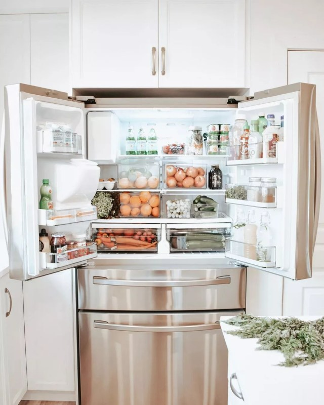 Samsung Energy Efficient Refrigerator with Doors Open. Photo by Instagram user @simplychristylynn
