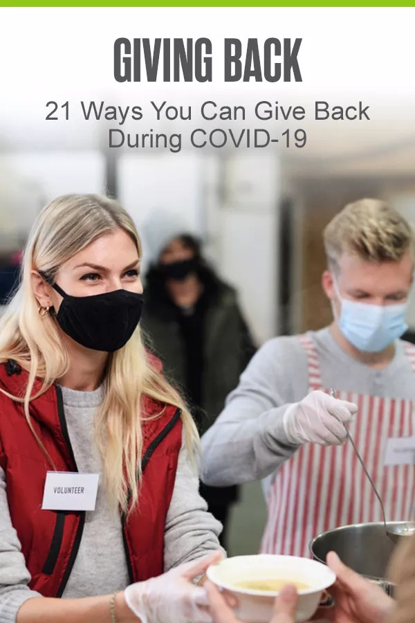 Pinterest Image: Giving Back: 21 Ways You Can Give Back During COVID-19