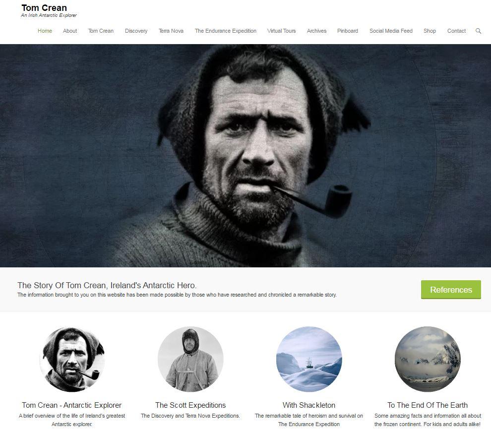 Tom Crean Discovery Website