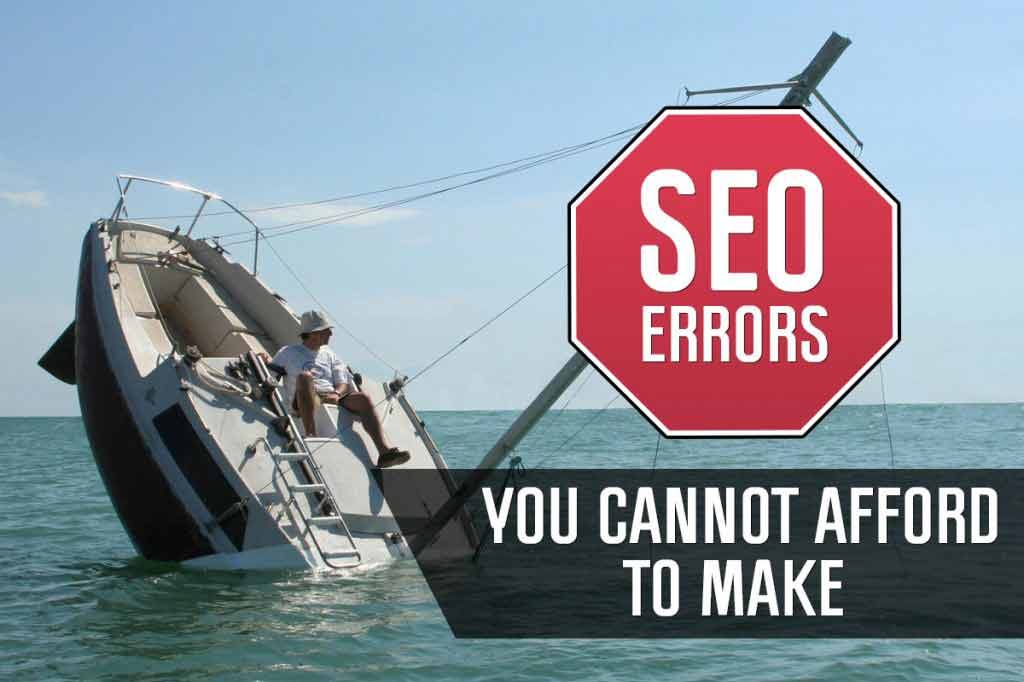common seo errors