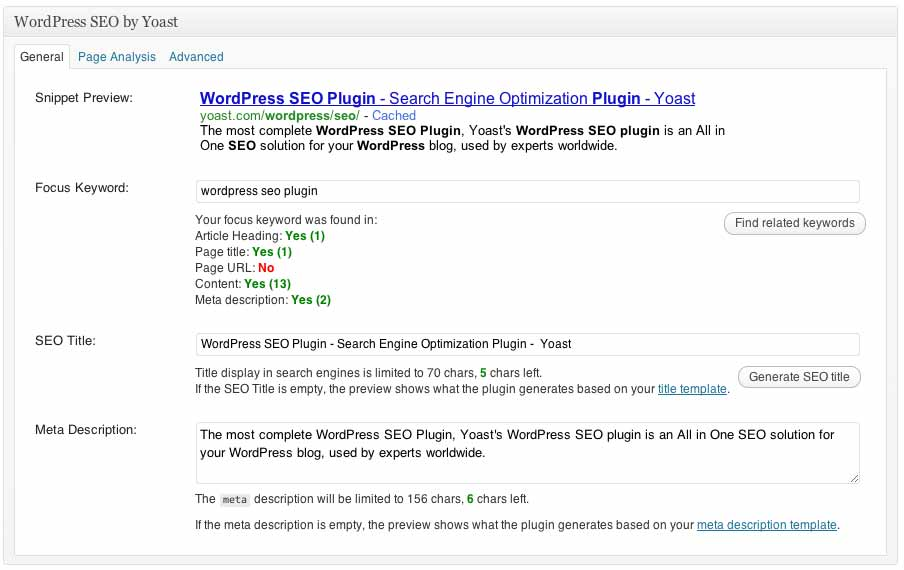 wordpress meta description seo