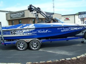 Wakeboarding boat audio